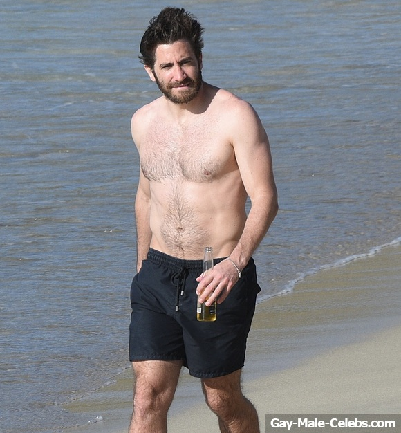 Speaking of naked horseplay  here is Jake Gyllenhaal in his nude glory   Well  almost nude  as his hand protects what little modesty is left  Gay Fetish XXX