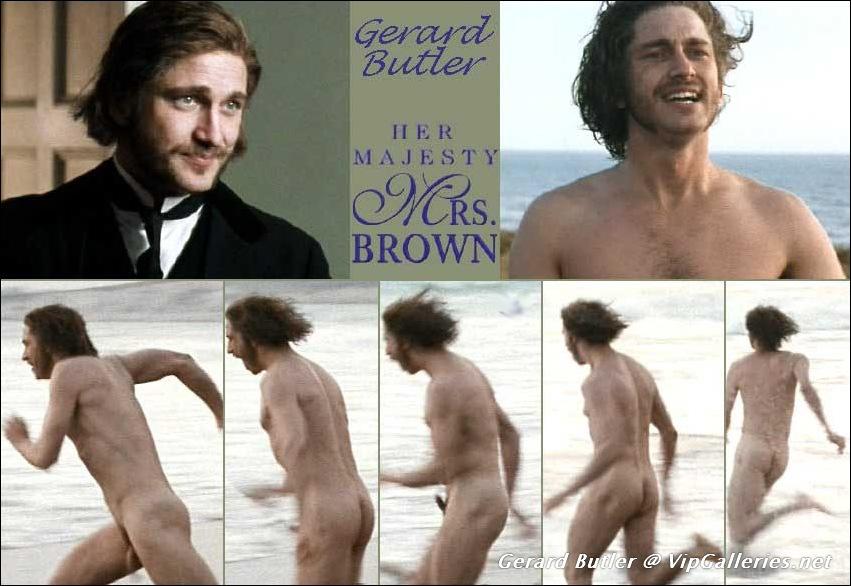 Gerard butler's naked butt