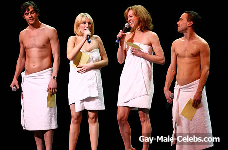 The Big Bang Theory Star Johnny Galecki Flashing His Great Cock On The Stage