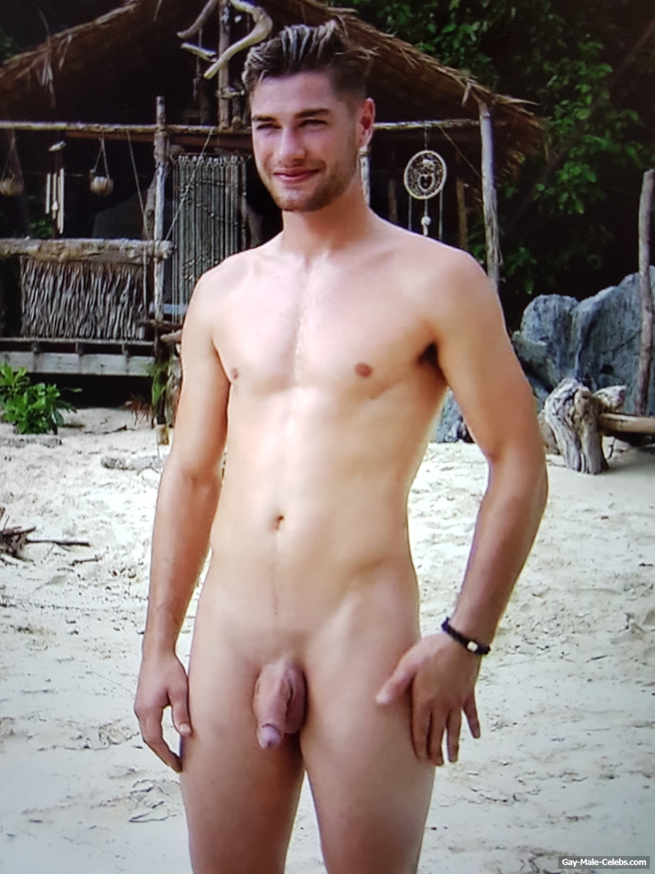 Joshua Feytons Frontal Nude During Reality Tv-Show  Adam Zkt Eva -9941