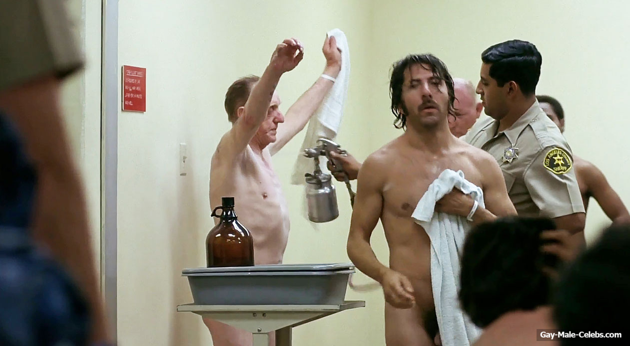 Dustin Hoffman Nude Cock In Shower from Straight Time